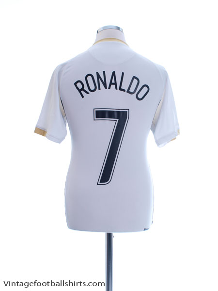 2006-07 Manchester United European Away Shirt Ronaldo #7 S - 146817