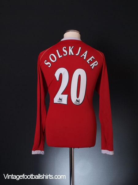 2006-07 Manchester United Home Shirt Solskjaer #20 L/S L