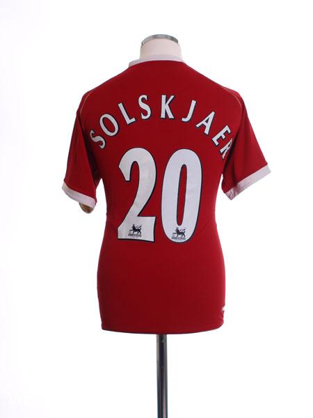 2006-07 Manchester United Home Shirt Solskjaer #20 S