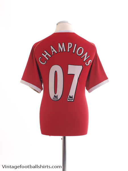2006-07 Manchester United Home Shirt Champions #07 L