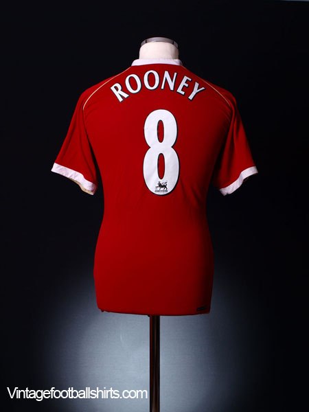 2006-07 Manchester United Home Shirt Rooney #8 M