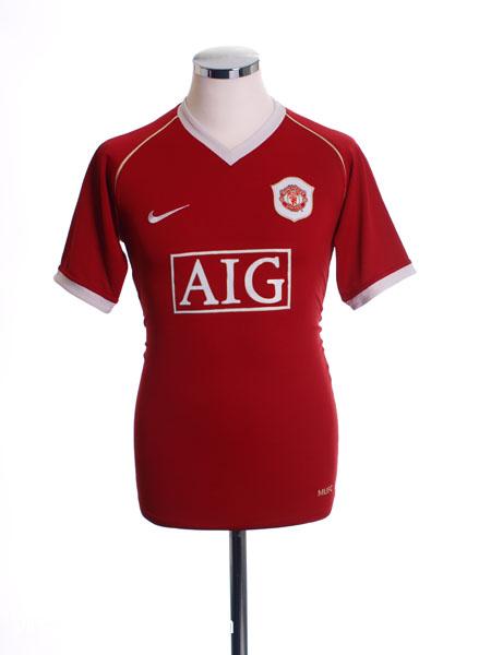 2006-07 Manchester United Home Shirt XL - 146814-648