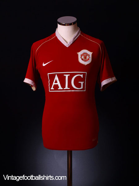 2006-07 Manchester United Home Shirt L.Boys