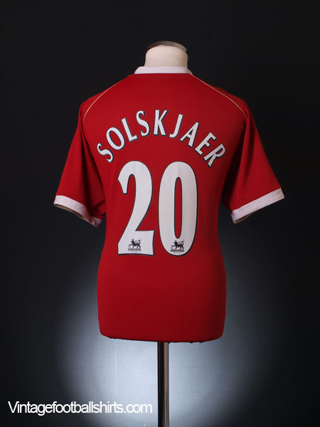2006-07 Manchester United Home Shirt Solskjaer #20 L.Boys