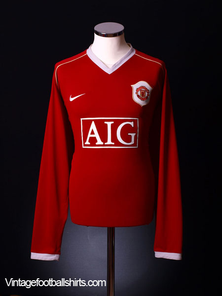 2006-07 Manchester United Home Shirt L/S L.Boys