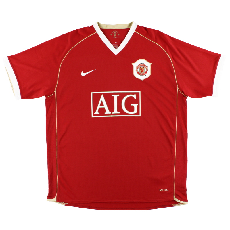 2006-07 Manchester United Nike Home Shirt M - 146814