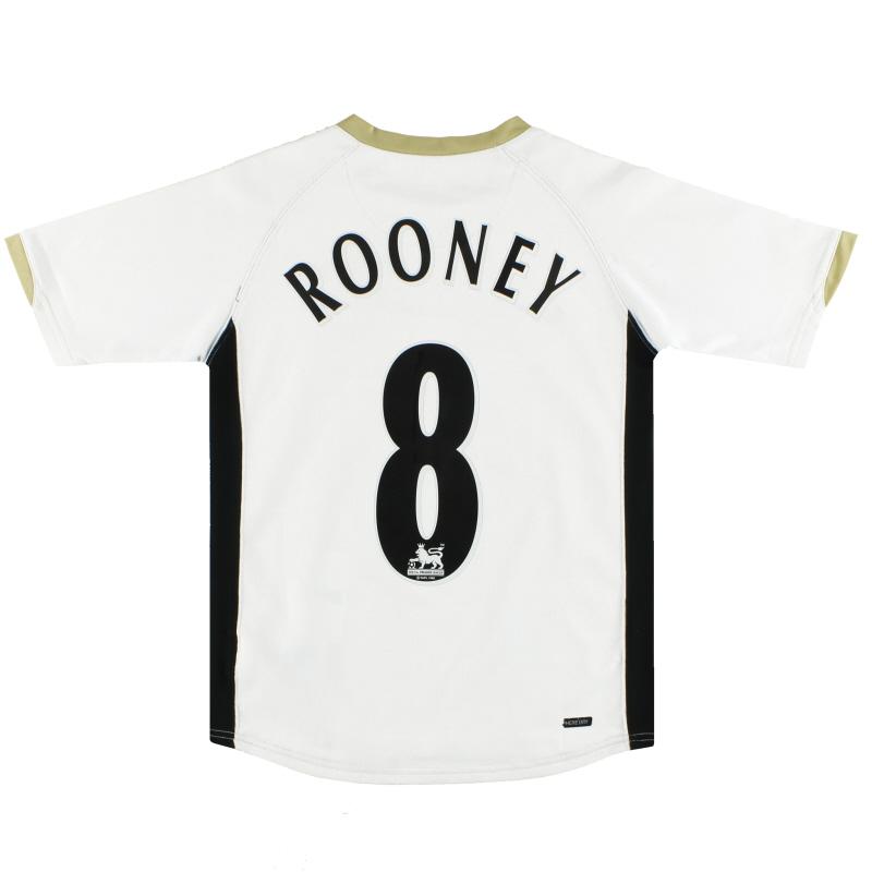 2006-07 Manchester United Nike Away Shirt Rooney #8 M.Boys