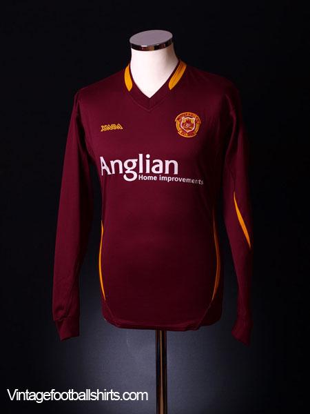 2006-07 Motherwell Away Shirt *L/S* M