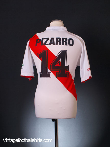 2006-07 Peru Home Shirt Pizarro #14 L