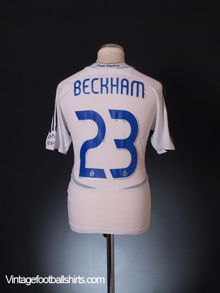 2006-07 Real Madrid Home Shirt Beckham #23 XL.Boys