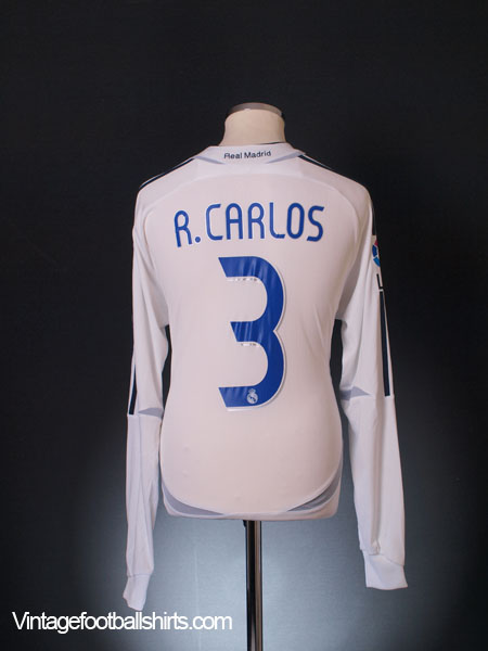 best website d780a 89c97 2006-07 Real Madrid Player Issue Home Shirt R.Carlos #3 L/S ...