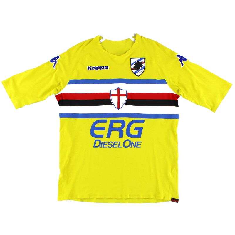 2006-07 Sampdoria Player Issue Goalkeeper Shirt L