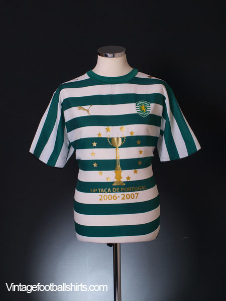 2006-07 Sporting Lisbon '14a Taca De Portugal' Home Shirt *Mint* L