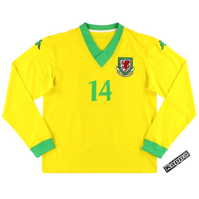 2006-07 Wales Kappa Player Issue Away Shirt #14 *w/tags* XXL