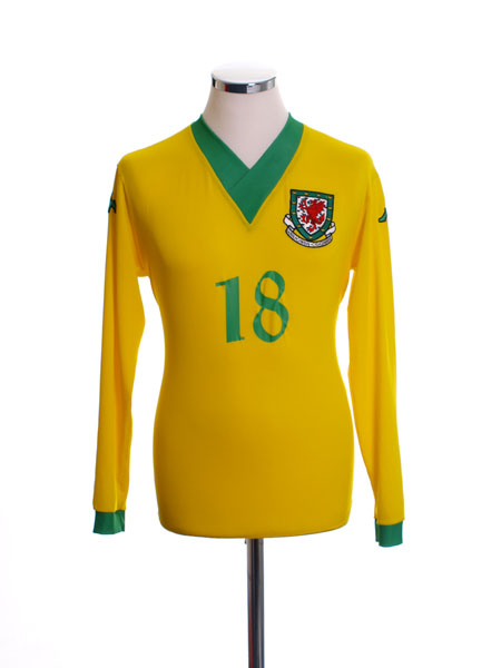 2006-07 Wales Player Issue Away Shirt #18 L/S XL