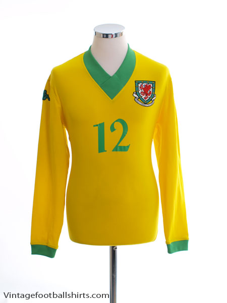 2006-07 Wales Player Issue Away Shirt #12 L/S XL.Boys