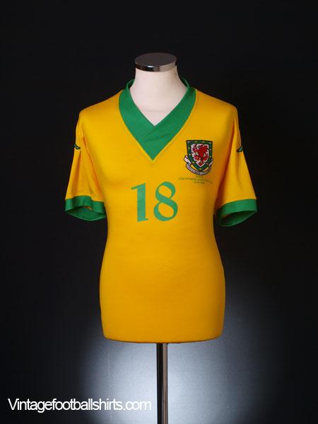 2006-07 Wales U21's Player Issue Away Shirt #18 XXL
