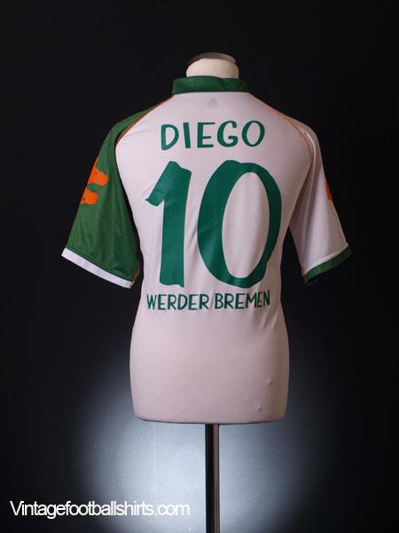 2006-07 Werder Bremen Home Shirt Diego #10 XL