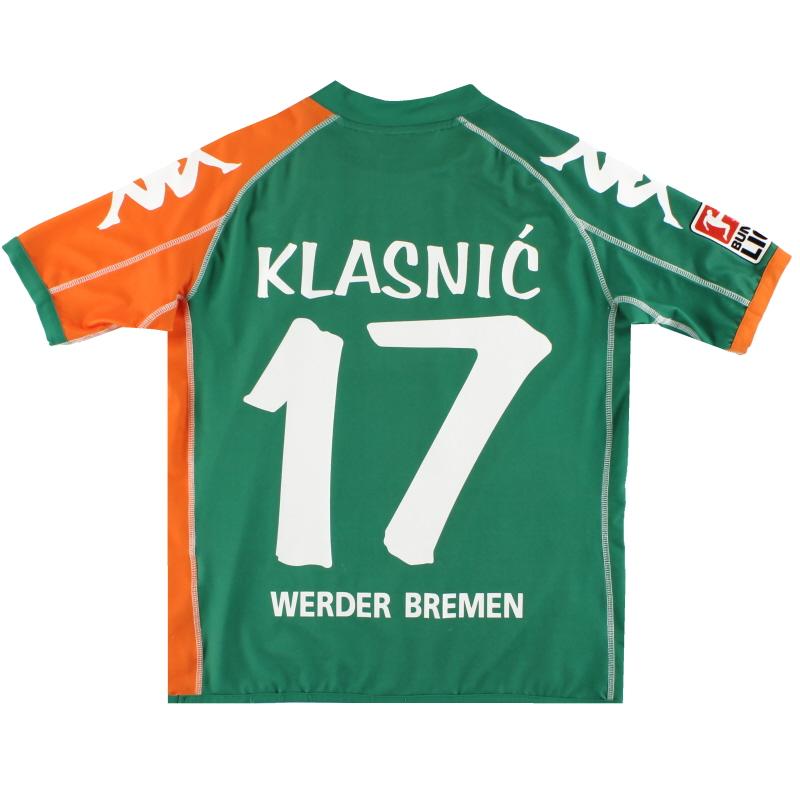 2006-07 Werder Bremen Kappa Away Shirt Klasnic #17 Y