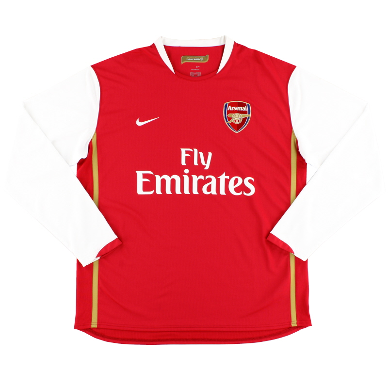 2006-08 Arsenal Home Shirt L/S XL