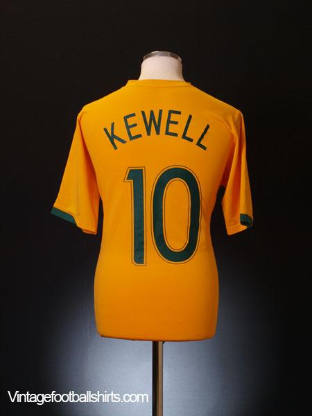 2006-08 Australia Home Shirt Kewell #10 L