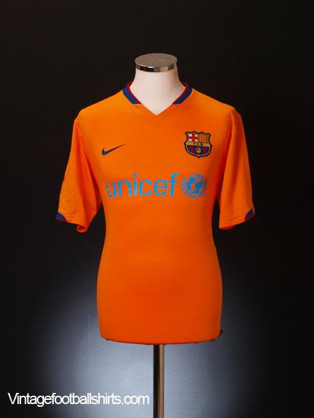 2006-08 Barcelona Away Shirt M