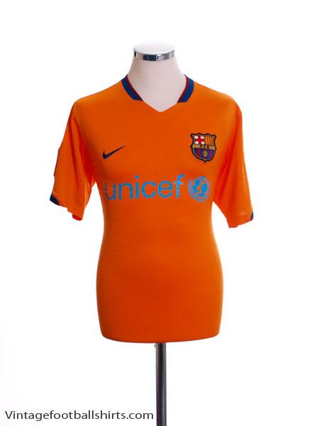 2006-08 Barcelona Away Shirt L