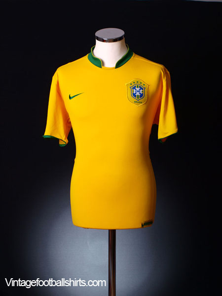 2006-08 Brazil Home Shirt M.Boys