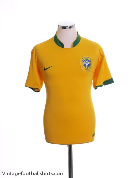 2006-08 Brazil Home Shirt M