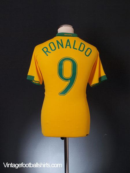 2006-08 Brazil Home Shirt Ronaldo #9 M