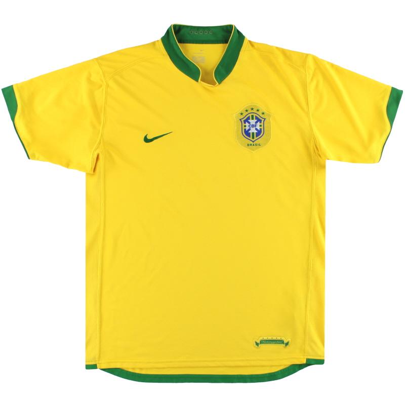 2006-08 Brazil Nike Home Shirt M