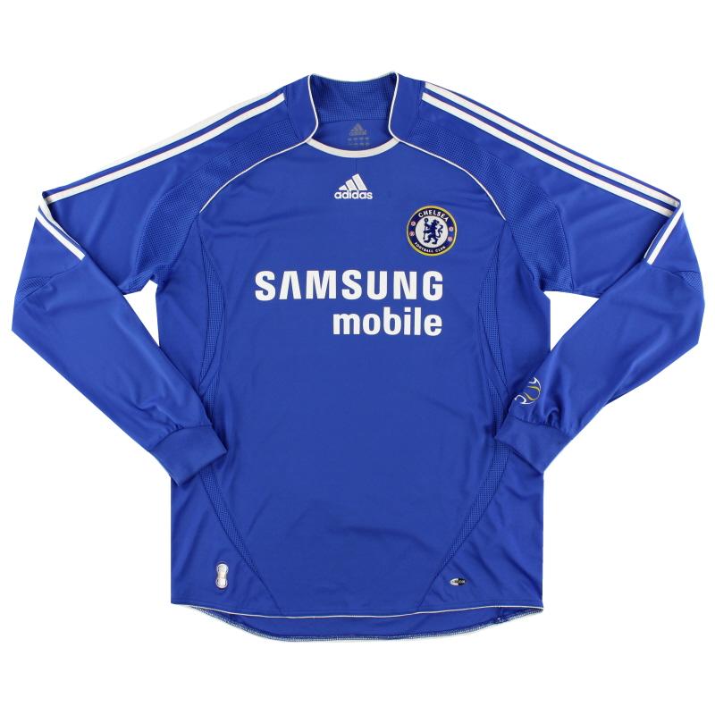 2006-08 Chelsea Home Shirt L/S L - 061228