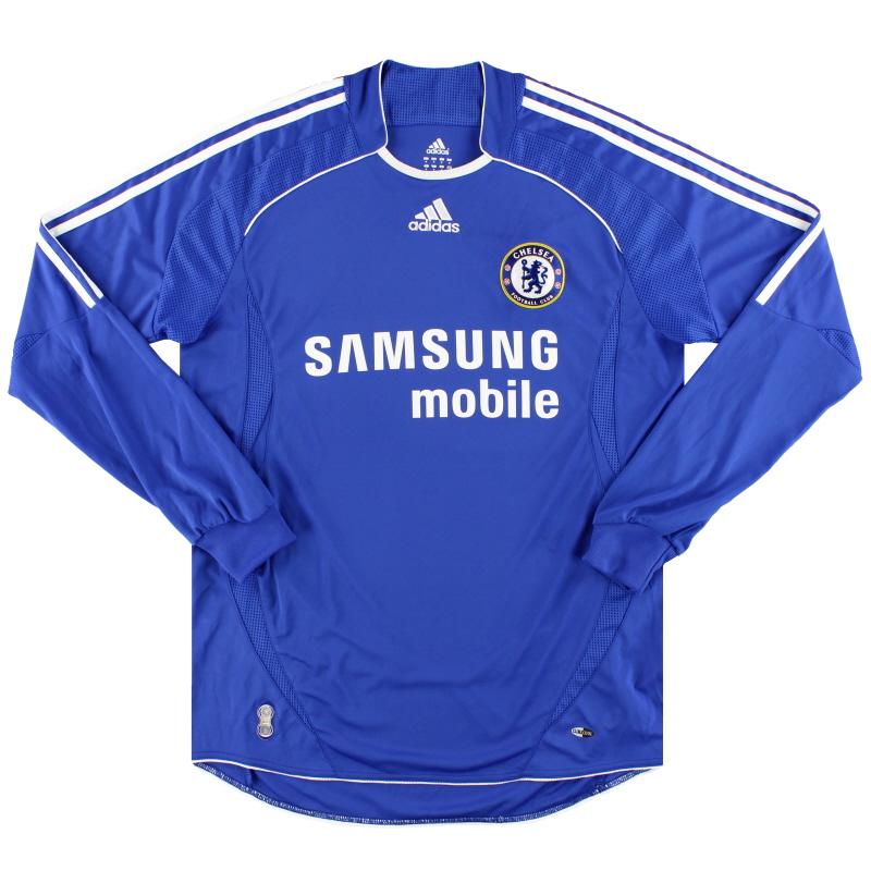 2006-08 Chelsea adidas Home Shirt L/S M - 061228