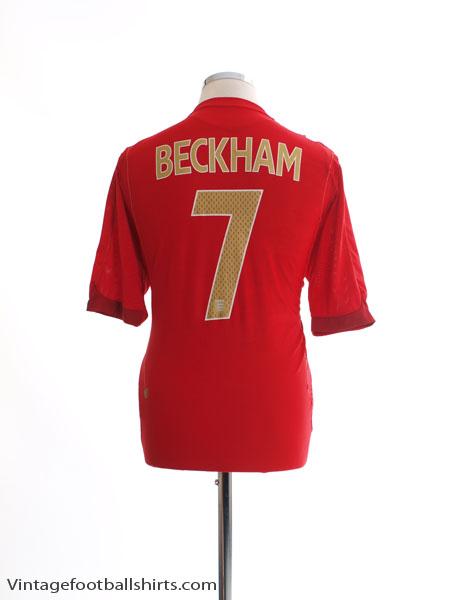 2006-08 England Away Shirt Beckham #7 *Mint* L