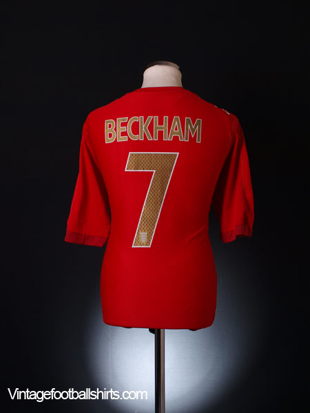 2006-08 England Away Shirt Beckham #7 L