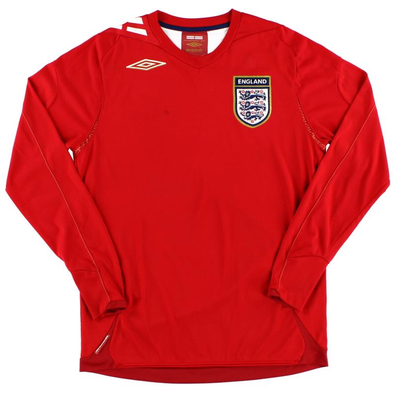2006-08 England Away Shirt L/S S