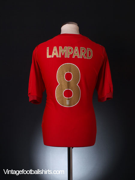 2006-08 England Away Shirt Lampard #8 XL