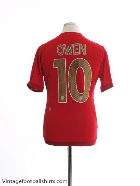 2006-08 England Away Shirt Owen #10 M