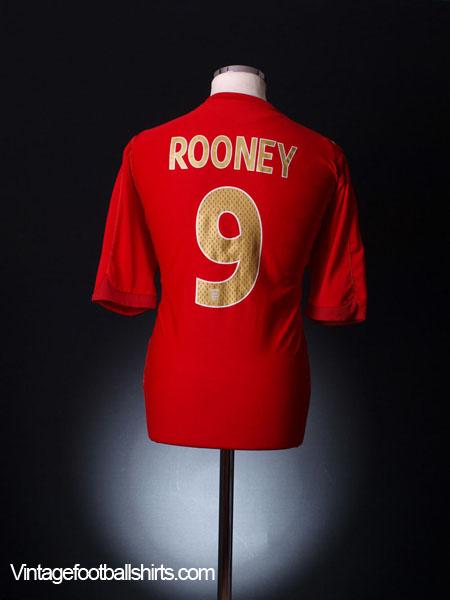 2006-08 England Away Shirt Rooney #9 L