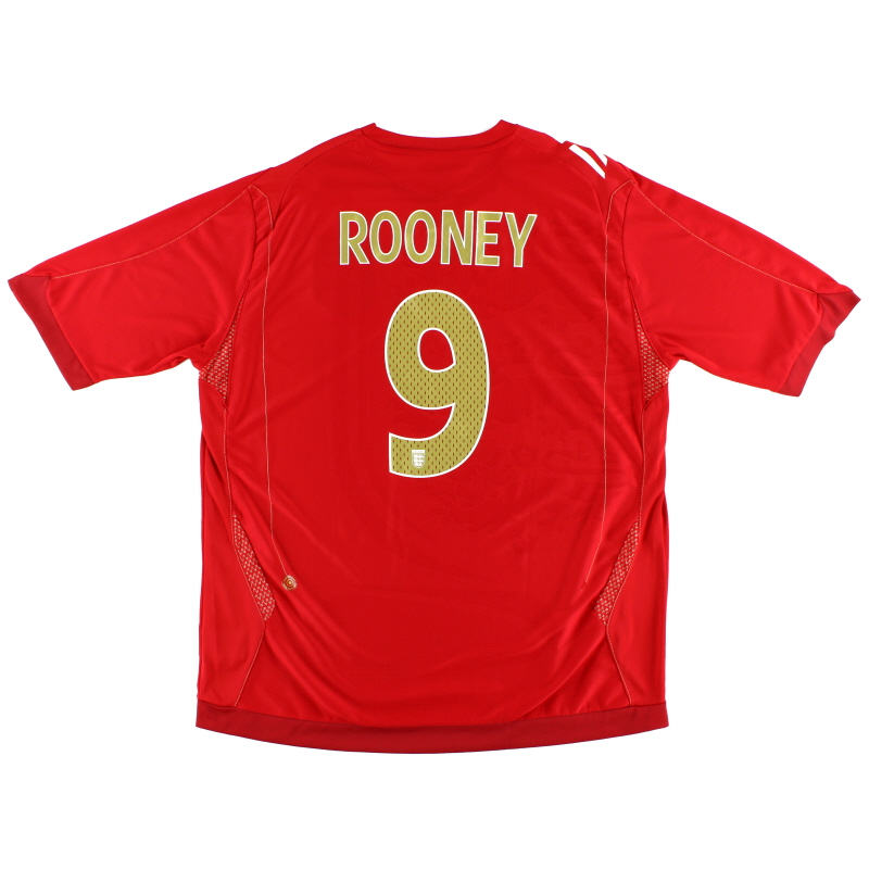 2006-08 England Away Shirt Rooney #9 XL