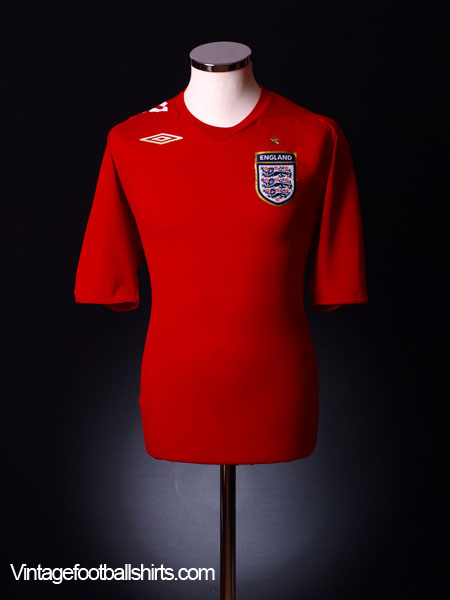 2006-08 England Away Shirt L