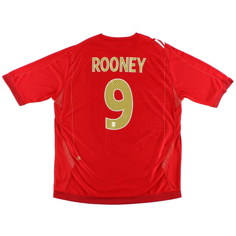 2006-08 England Umbro Away Shirt Rooney #9 XXL