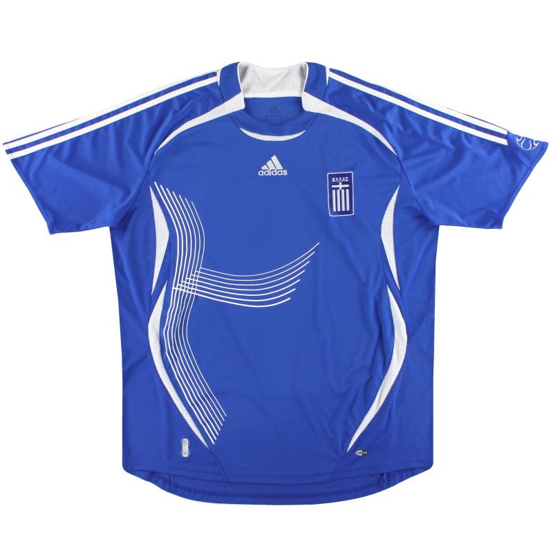 2006-08 Greece adidas Home Shirt XL - 740127