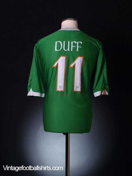 2006-08 Ireland Home Shirt Duff #11 XXL