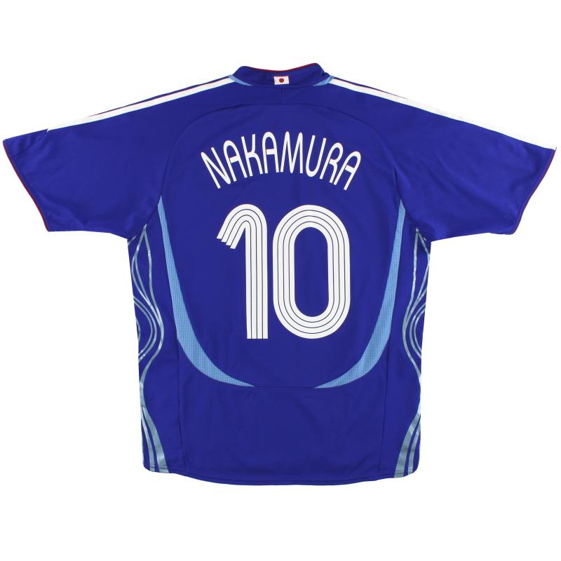2006-08 Japan adidas Home Shirt Nakamura #10 M/L - 818189