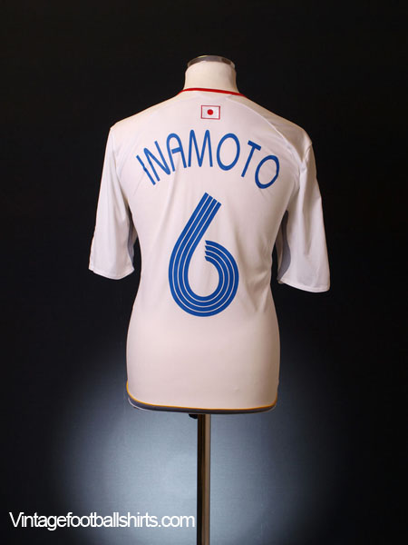 2006-08 Japan Away Shirt Inamoto #6 L