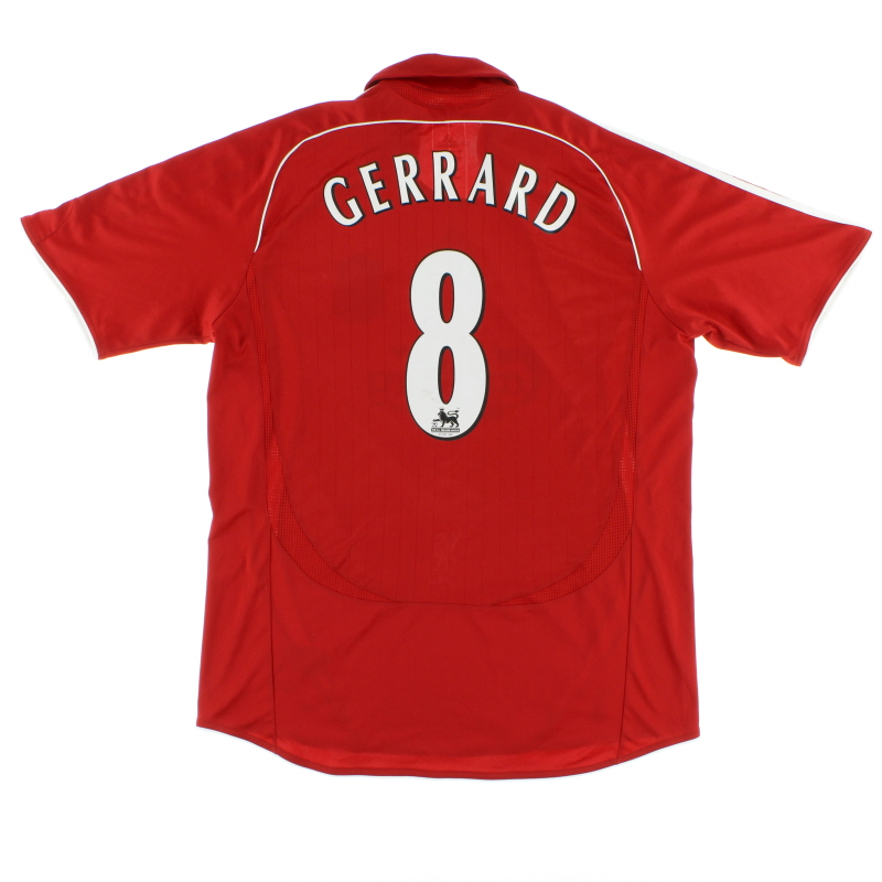 2006-08 Liverpool adidas Home Shirt Gerrard #8 L.Boys - 053323