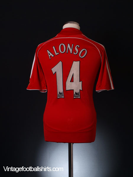 2006-08 Liverpool Home Shirt Alonso #14 L