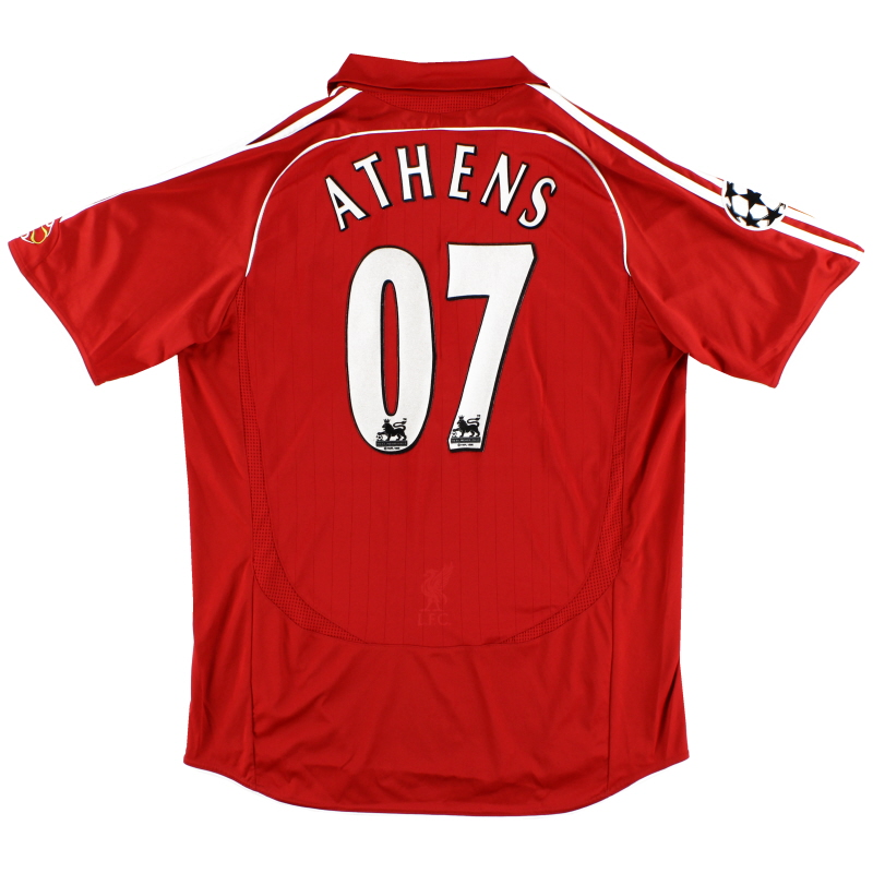 2006-08 Liverpool Home Shirt Athens #07 L