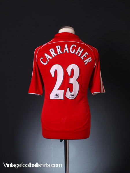 2006-08 Liverpool Home Shirt Carragher #23 L